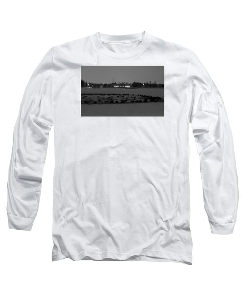 Geese In Frozen Lake Long Sleeve T-Shirt