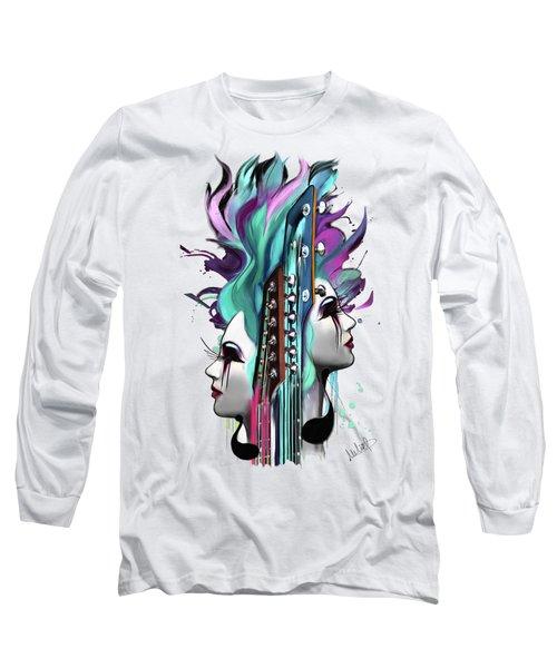 Gemini Long Sleeve T-Shirt by Melanie D