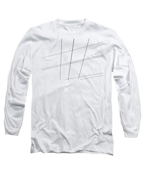 Geometric Lines Long Sleeve T-Shirt by Debbie Oppermann