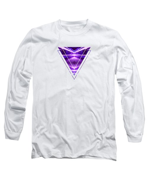 Geometric Street Night Light Pink Purple Neon Edition  Long Sleeve T-Shirt
