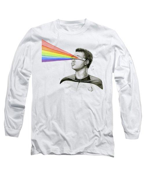 Geordi Sees The Rainbow Long Sleeve T-Shirt