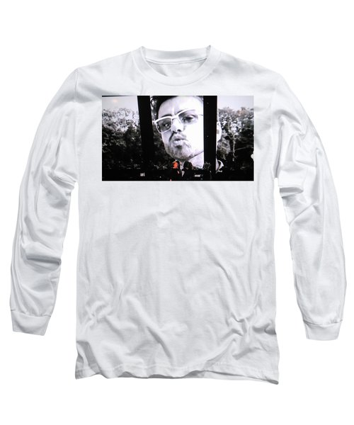 George Michael Sends A Kiss Long Sleeve T-Shirt by Toni Hopper