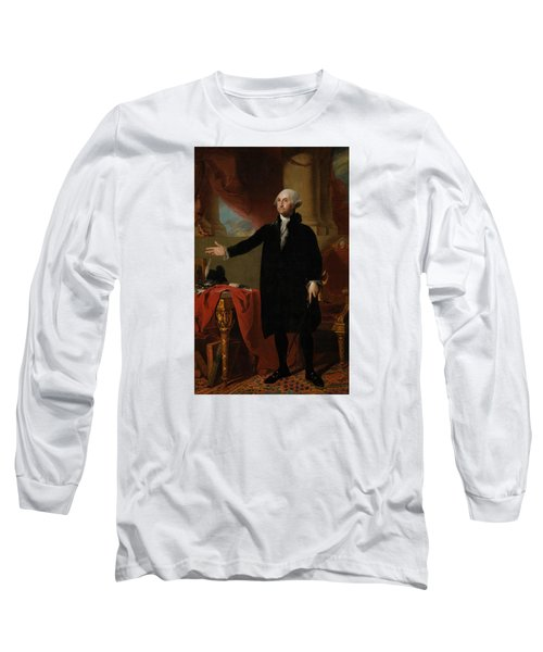 George Washington Lansdowne Portrait Long Sleeve T-Shirt by War Is Hell Store