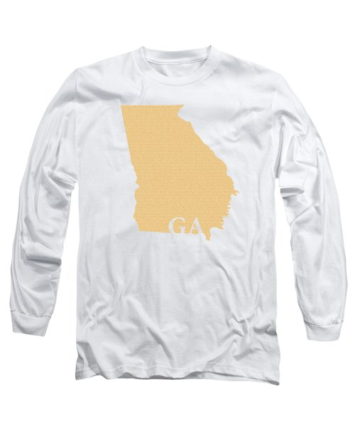 Georgia State Map With Text Of Constitution Long Sleeve T-Shirt