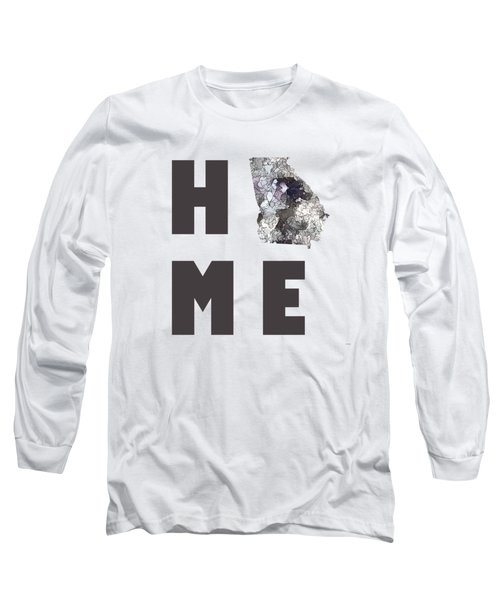 Georgia State MapGa Long Sleeve T-Shirt