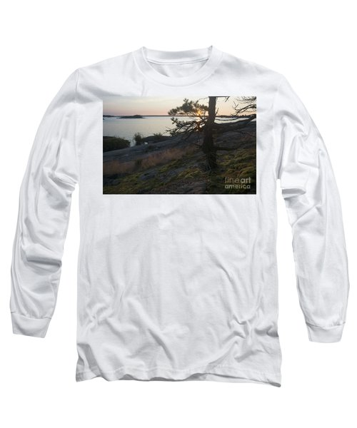Georgian Bay Sunrise-moss 4253 Long Sleeve T-Shirt
