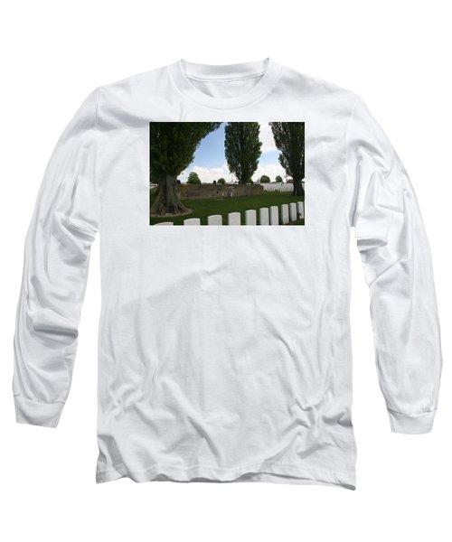 German Bunker At Tyne Cot Cemetery Long Sleeve T-Shirt