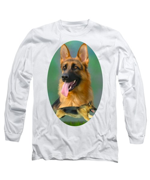 German Shepherd Breed Art Long Sleeve T-Shirt