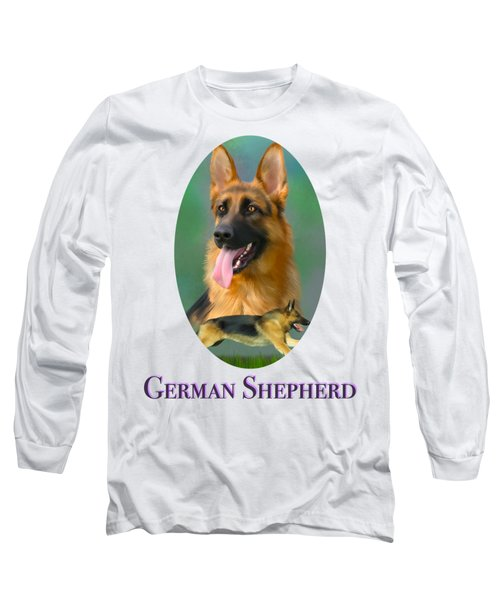 German Shepherd With Name Logo Long Sleeve T-Shirt