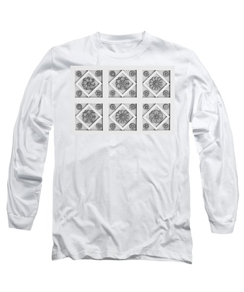 Getty Villa Coffered Peristyle Ceiling Long Sleeve T-Shirt