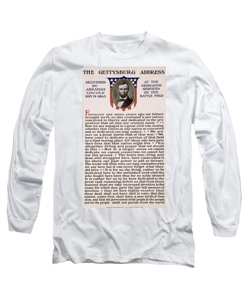 Long Sleeve T-Shirt featuring the photograph Gettysburg Address by International  Images