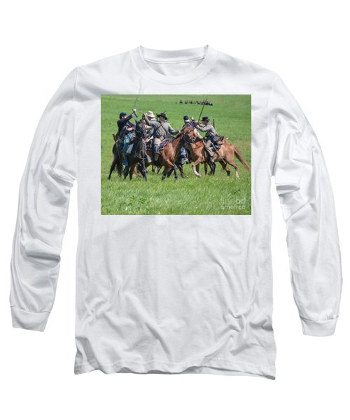 Gettysburg Cavalry Battle 7948c  Long Sleeve T-Shirt