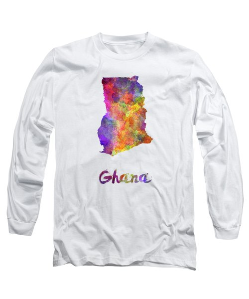 Ghana In Watercolor Long Sleeve T-Shirt