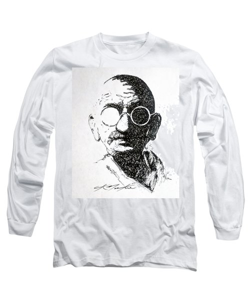 Ghandi Long Sleeve T-Shirt