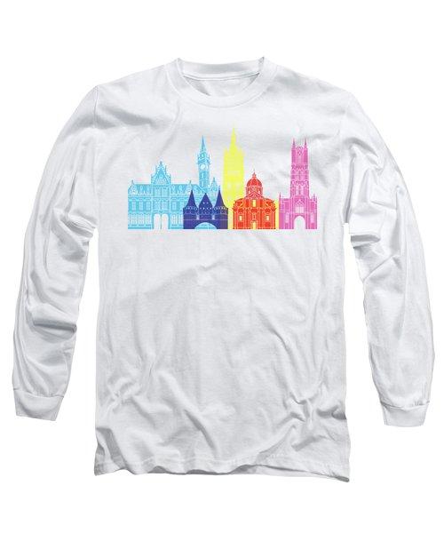 Ghent Skyline Pop Long Sleeve T-Shirt