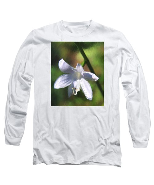 Long Sleeve T-Shirt featuring the photograph Ghost Flower by Susan Crossman Buscho