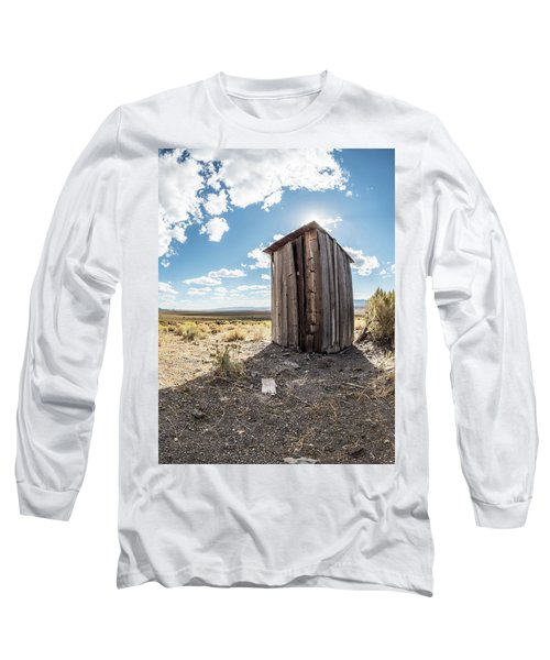Ghost Town Outhouse Long Sleeve T-Shirt