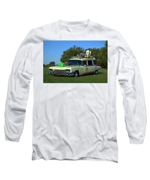 1959 Cadillac Ghostbusters Ambulance Replica Long Sleeve T-Shirt