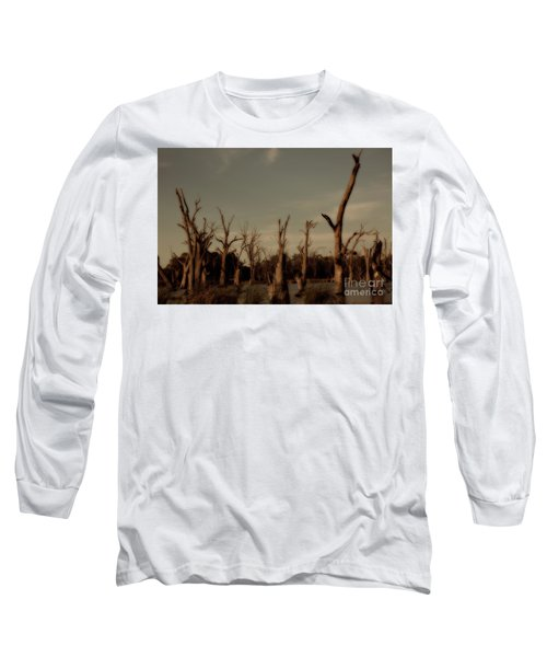Ghostly Trees Long Sleeve T-Shirt by Douglas Barnard