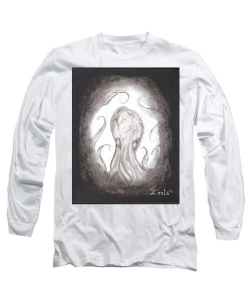 Long Sleeve T-Shirt featuring the painting Ghostopus by Christophe Ennis