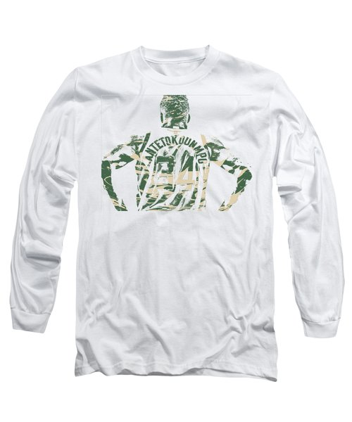 Giannis Antetokounmpo Milwaukee Bucks Pixel Art 22 Long Sleeve T-Shirt