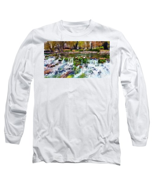 Giant Springs 1 Long Sleeve T-Shirt by Susan Kinney