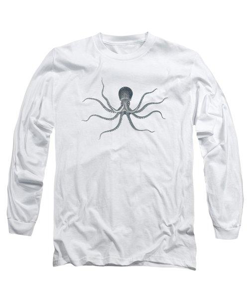 Giant Squid - Nautical Design Long Sleeve T-Shirt