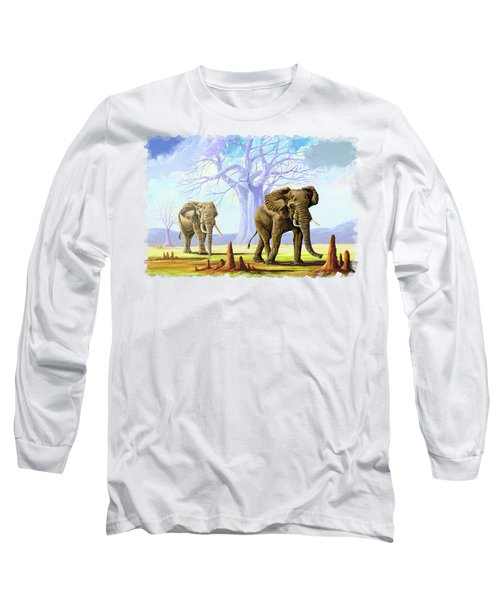 Giants And Little People Long Sleeve T-Shirt