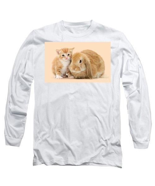 Ginger Kitten And Sandy Bunny Long Sleeve T-Shirt