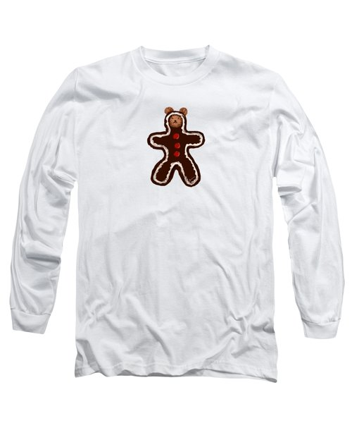 Gingerbread Teddy Long Sleeve T-Shirt by Jean Pacheco Ravinski