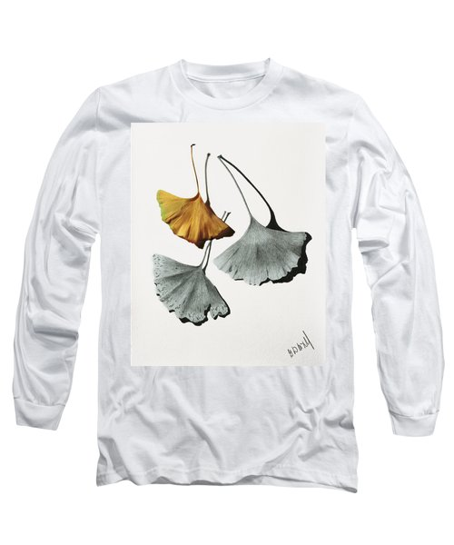 Ginkgo Leaves Long Sleeve T-Shirt by Garry McMichael