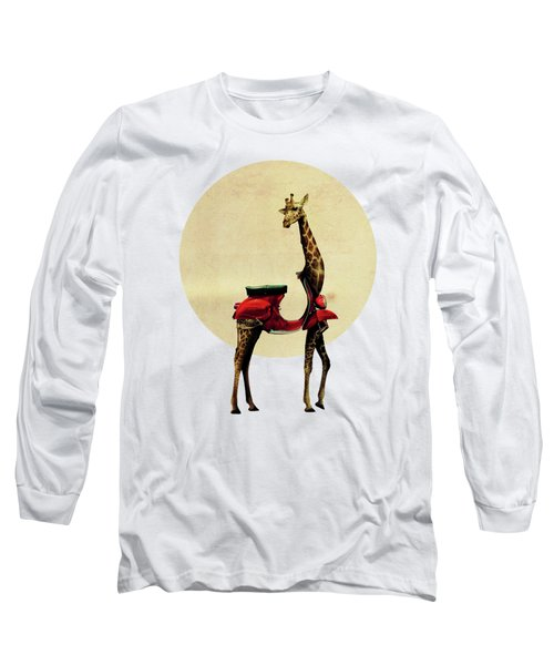 Giraffe Long Sleeve T-Shirt by Ali Gulec