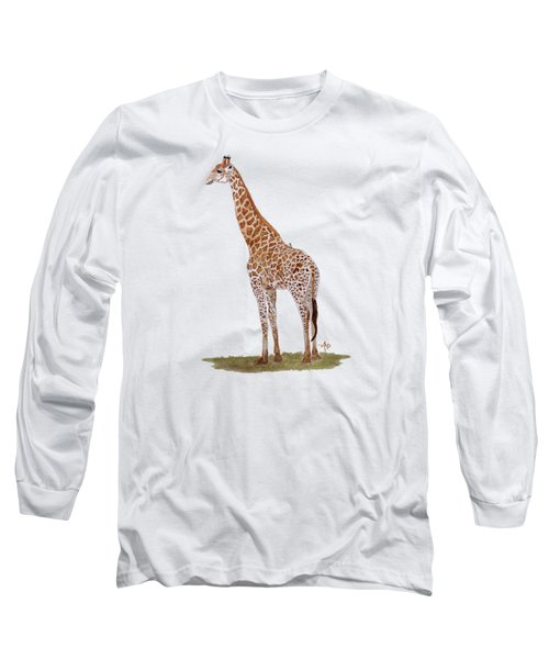 Giraffe Long Sleeve T-Shirt by Angeles M Pomata