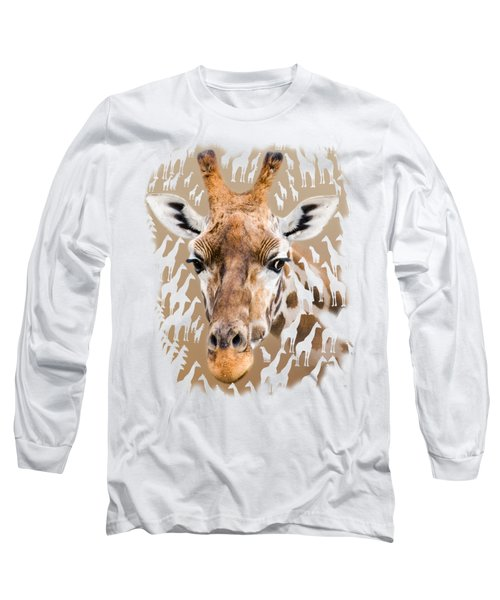 Giraffe Clothing And Wall Art Long Sleeve T-Shirt by Linsey Williams