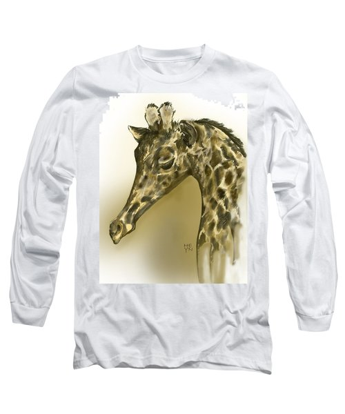 Giraffe Contemplation Long Sleeve T-Shirt