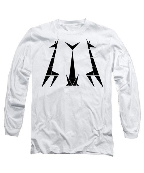 Giraffe Trio Transparent Long Sleeve T-Shirt