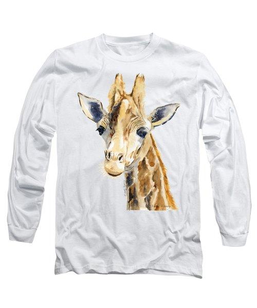 Giraffe Watercolor Long Sleeve T-Shirt by Melly Terpening