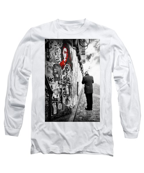 Girl In Red Long Sleeve T-Shirt by Anthony Citro