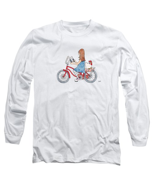 Girl On Bike Long Sleeve T-Shirt