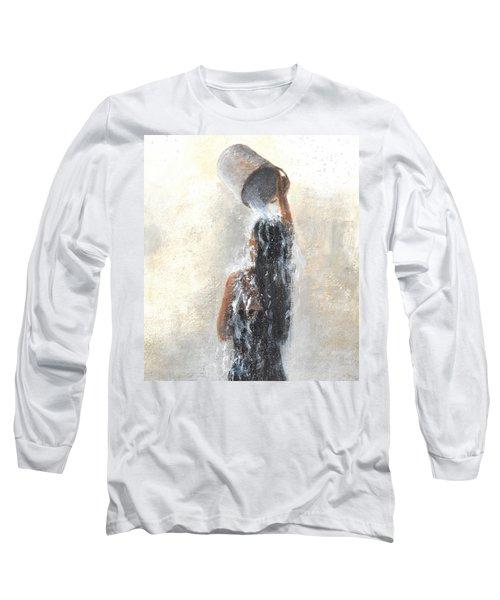 Girl Showering Long Sleeve T-Shirt
