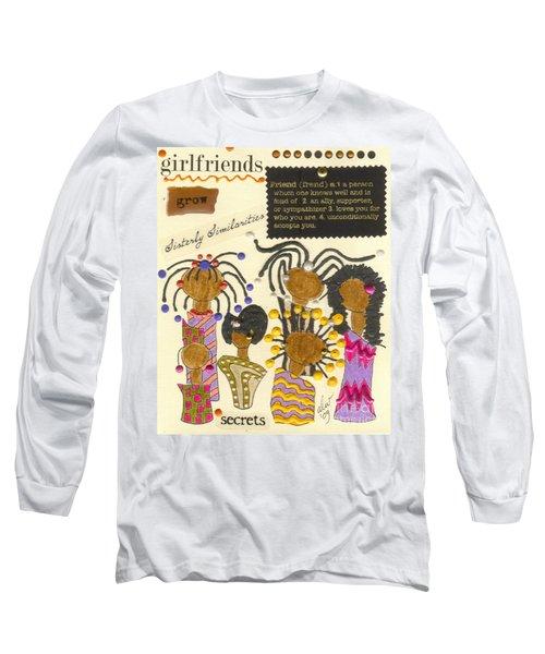 Girlfriends  Long Sleeve T-Shirt by Angela L Walker