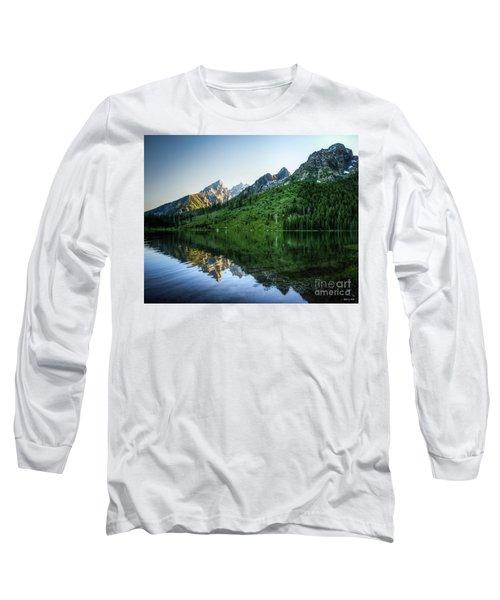 Glacier Lake Long Sleeve T-Shirt by Rebecca Hiatt