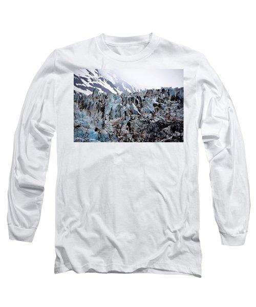 Glaciers Closeup - Alaska Long Sleeve T-Shirt