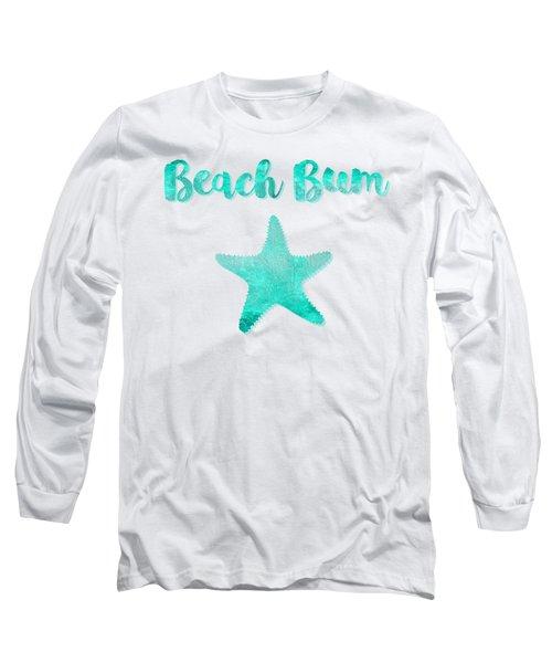 Glam Beach Bum Nautical Coastal Art Long Sleeve T-Shirt