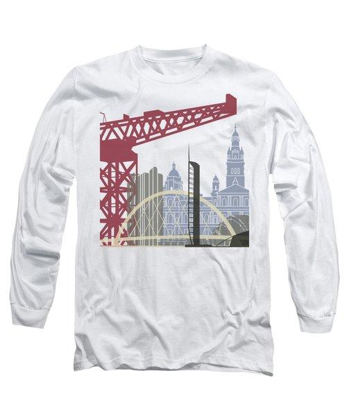 Glasgow Skyline Poster Long Sleeve T-Shirt