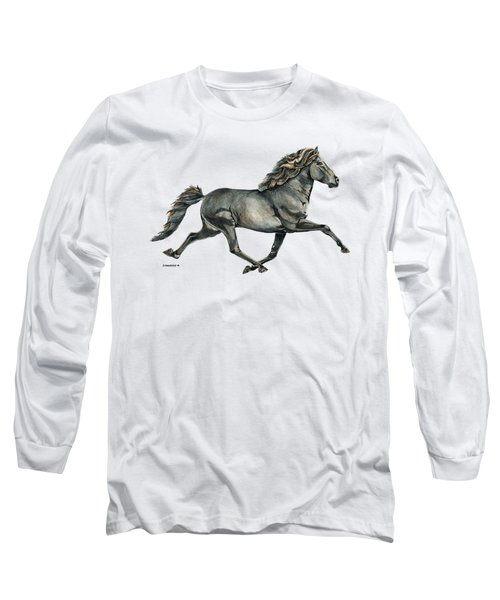 Long Sleeve T-Shirt featuring the painting Gletta by Shari Nees