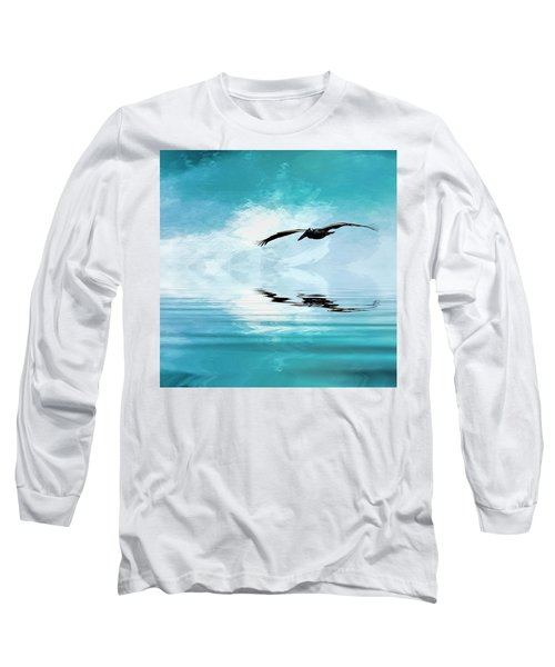 Gliding Long Sleeve T-Shirt by Cyndy Doty