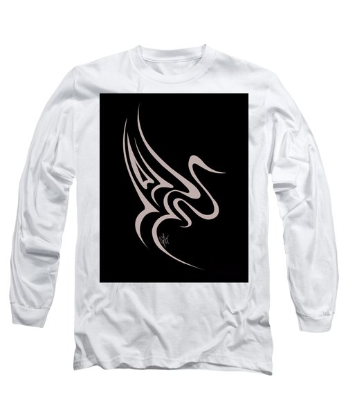 Gliding Swan Long Sleeve T-Shirt by Jamie Lynn