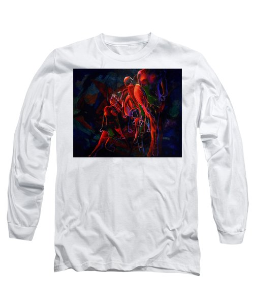 Long Sleeve T-Shirt featuring the painting Glow by Georg Douglas