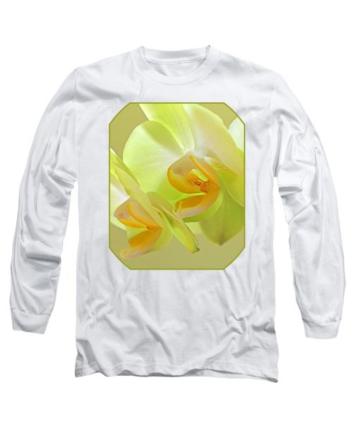 Glowing Orchid - Lemon And Lime Long Sleeve T-Shirt by Gill Billington